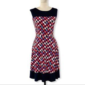 Kaileigh Nova Geometric Print Knit Dress